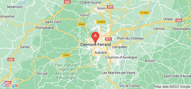 map of Clermont-Ferrand, France