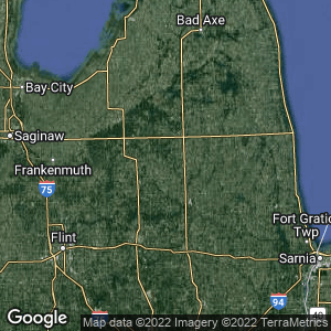 Static Map of Clifford, Michigan
