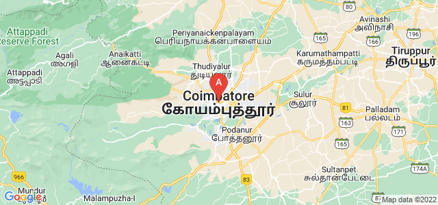 map of Coimbatore, India