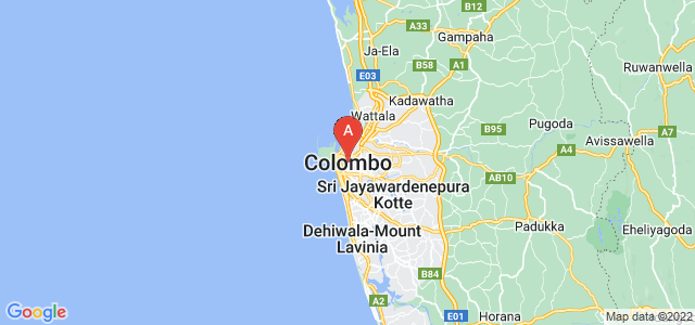 map of Colombo, Sri Lanka
