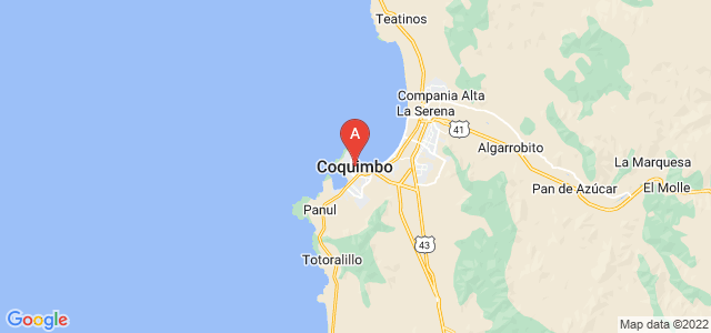 map of Coquimbo, Chile