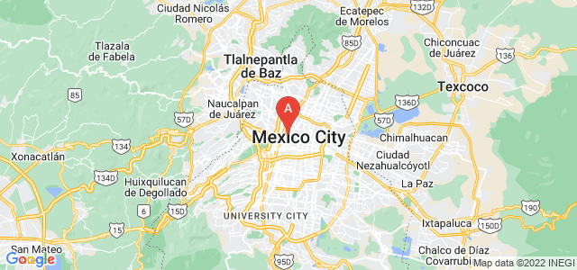 map of Cuauhtémoc, Mexico