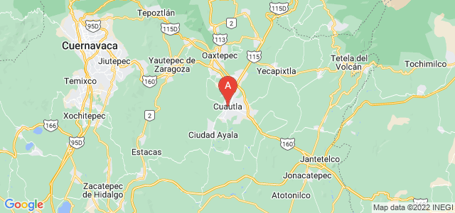 map of Cuautla, Mexico