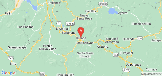 map of Cuilapa, Guatemala