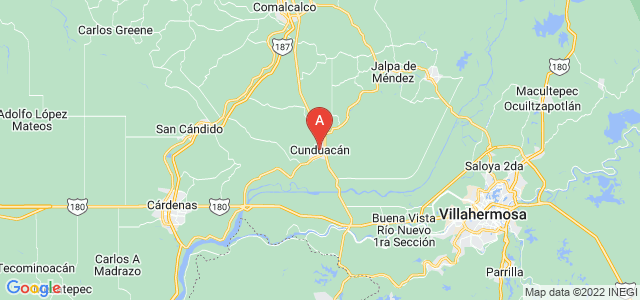 map of Cunduacán, Mexico