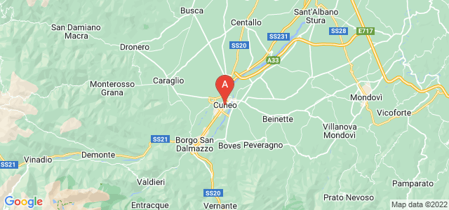 map of Cuneo, Italy