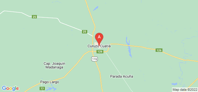 map of Curuzú Cuatiá, Argentina