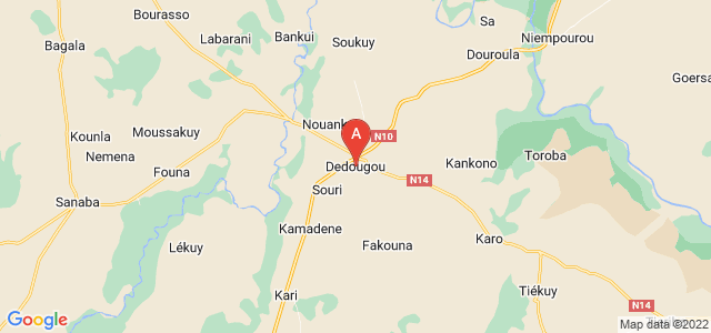map of Dédougou, Burkina Faso