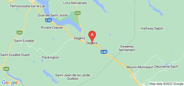 map of Dégelis, Canada