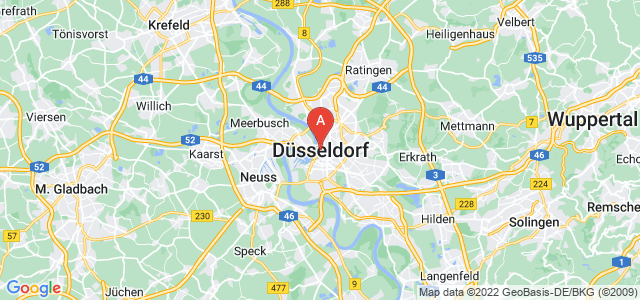 map of Düsseldorf, Germany