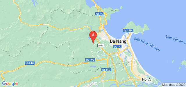 map of Da Nang, Vietnam
