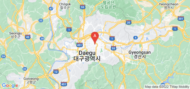 map of Daegu, South Korea