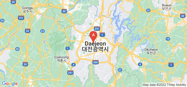 map of Daejeon, South Korea