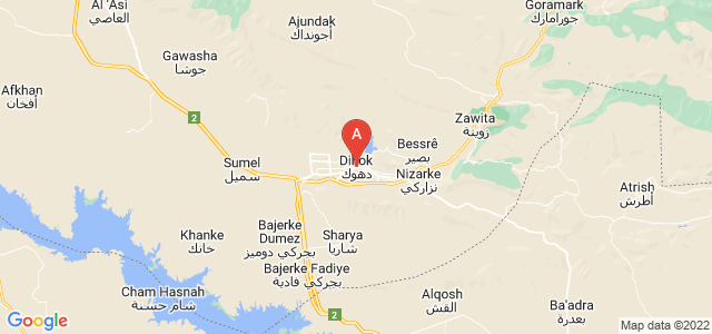 map of Dahuk, Iraq