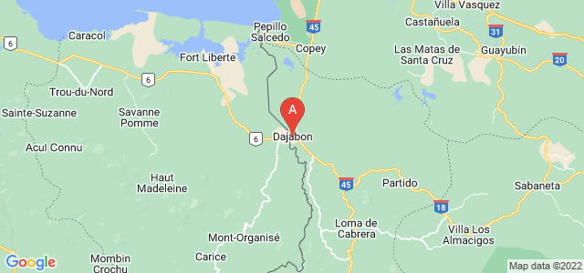 map of Dajabón, Dominican Republic