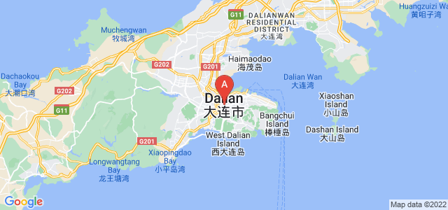 map of Dalian, China