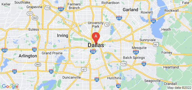 map of Dallas, United States of America