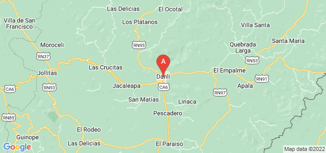 map of Danlí, Honduras