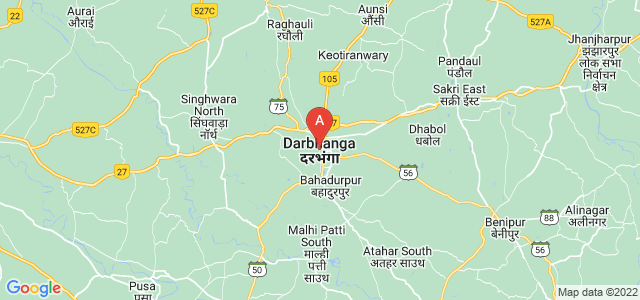 map of Darbhanga, India