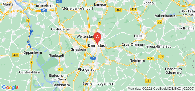 map of Darmstadt, Germany