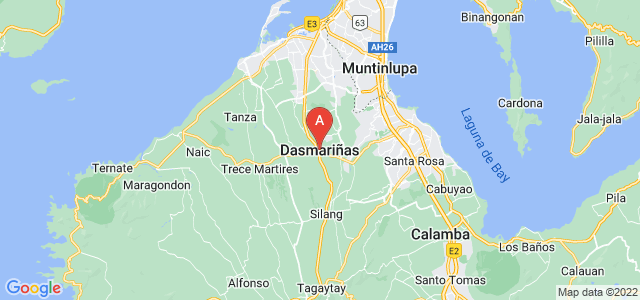 map of Dasmariñas, Philippines