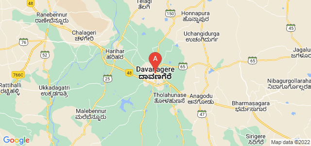 map of Davanagere, India