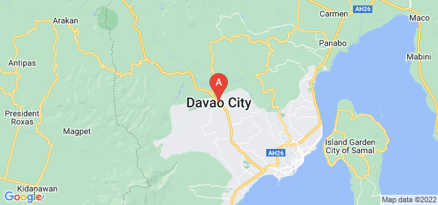 map of Davao City, Philippines