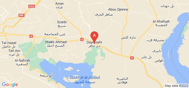 map of Dayr Hafir, Syria