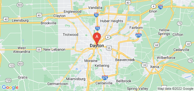 map of Dayton, United States of America