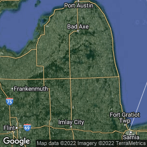 Static Map of Decker, Michigan