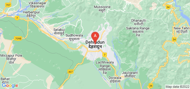 map of Dehradun, India