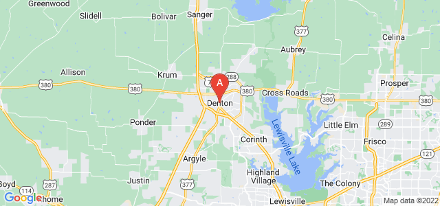 map of Denton, United States of America