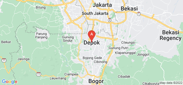 map of Depok, Indonesia