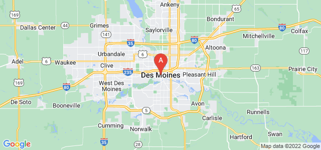 map of Des Moines, United States of America