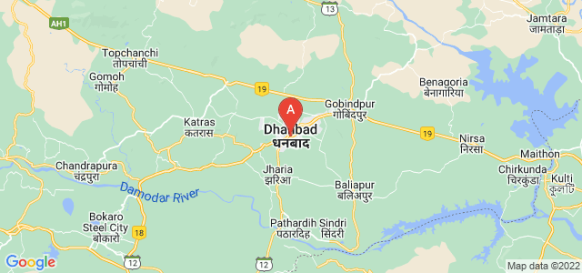 map of Dhanbad, India