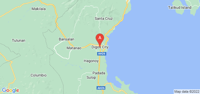 map of Digos, Philippines