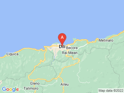 map of Dili, East Timor