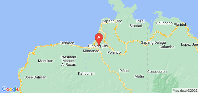map of Dipolog, Philippines
