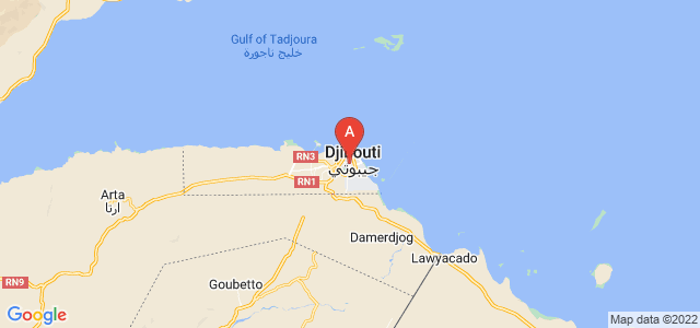 map of Djibouti City, Djibouti