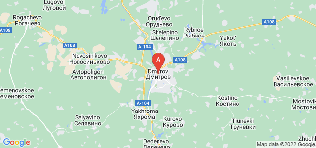 map of Dmitrov, Russia