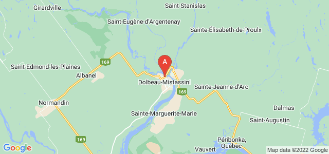 map of Dolbeau-Mistassini, Canada