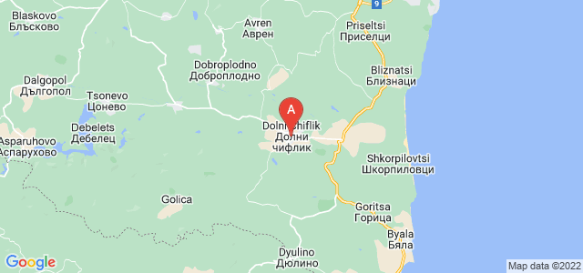 map of Dolni Chiflik, Bulgaria