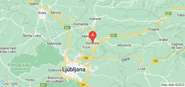 map of Domžale, Slovenia