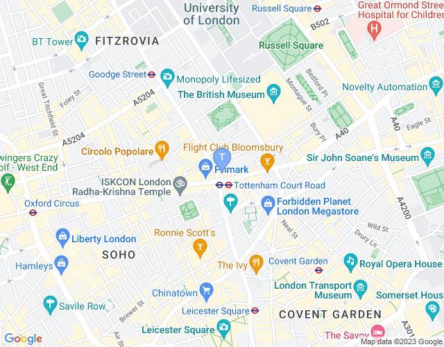 Location map for Dominion Theatre
