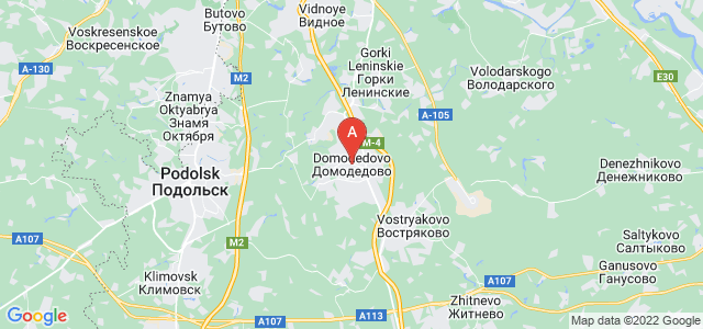 map of Domodedovo, Russia