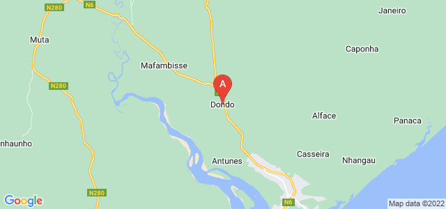 map of Dondo, Mozambique