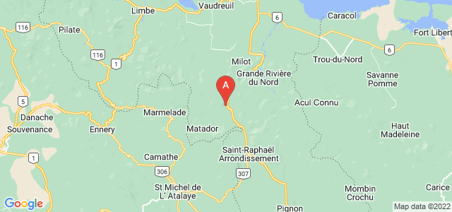 map of Dondon, Haiti