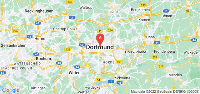 map of Dortmund, Germany