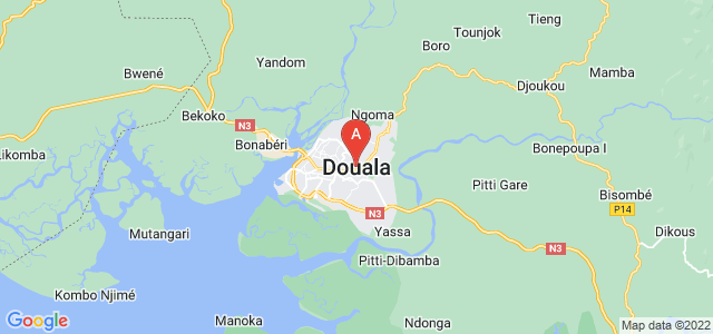 map of Douala, Cameroon