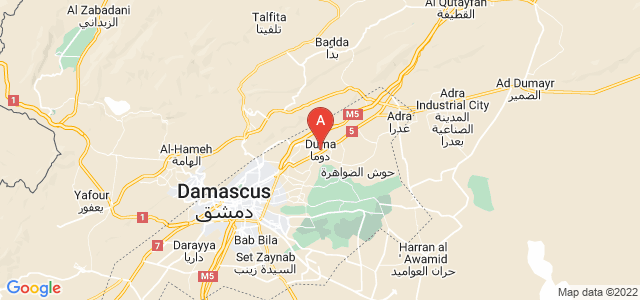 map of Douma, Syria